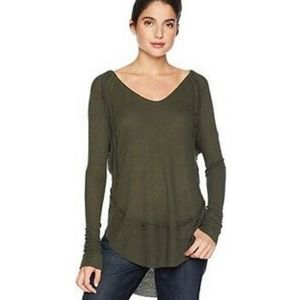 Free People Catalina thermal long sleeve green